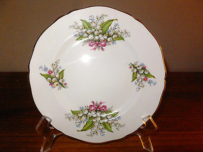 Regency English Bone China Salad/Luncheon Plate Lily of the Valley