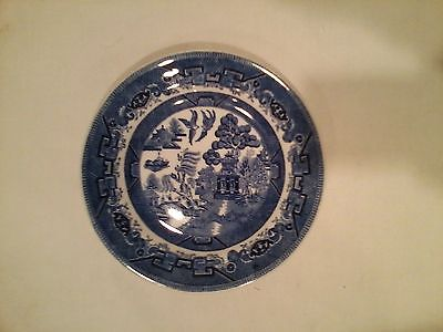 "SHENANGO CHINA USA 7"" PLATE BLUE WILLOW DESIGN"