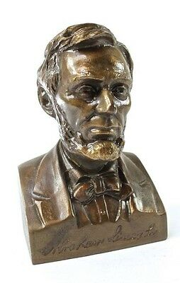 Antique Lincoln National Life Insurance Co. Abraham Lincoln Copper Bank Chicago