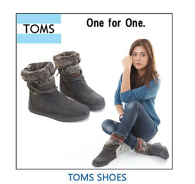 f33d2ec27 TOMS GREY SUEDE JACQUARD WOMEN'S NEPAL BOOT SHOES. Style # 10000658-GREY