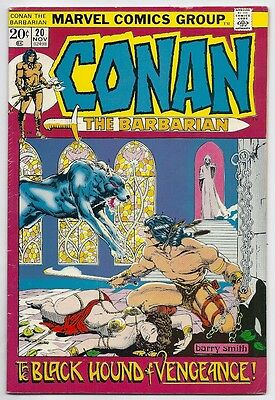 (1972) Marvel Comics Conan The Barbarian #20 Barry Smith Cover And Art! 4.5 Vg+