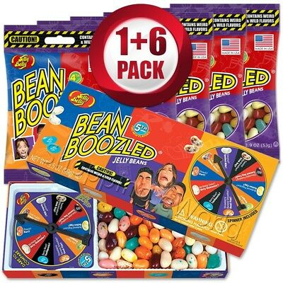BEAN BOOZLED Spinner Game 3.5oz +6 Refills 1.9oz ~ Jelly Belly ~ Candy Challange