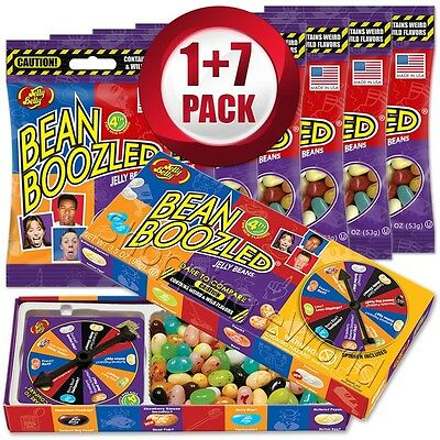 BEAN BOOZLED Spinner Game 3.5oz +7 Refills 1.9oz ~ Jelly Belly ~ Candy Challange