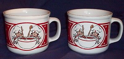 Set of 2 Campbell Kids Soup Mugs by Westwood  1991 Good Condition