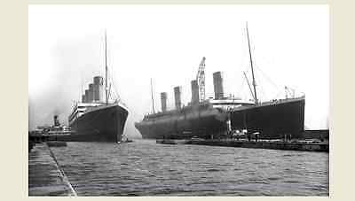 1912 Titanic & Sister Ship Olympic PHOTO White Star Line Disaster Sinking