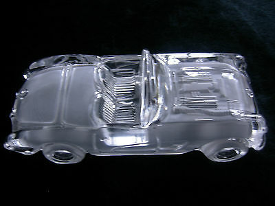 CRYSTAL CAR, WEST GERMANY, Satin & Clear, 2-seats, Hofbauer, poss 1959 Corvette