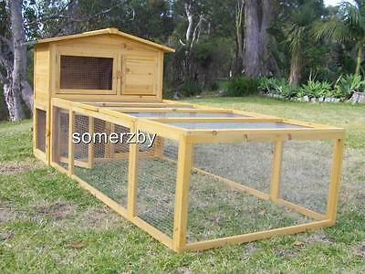 Rabbit Hutch Somerzby Villa and Large Run Guinea Pig Double Level cage pet house