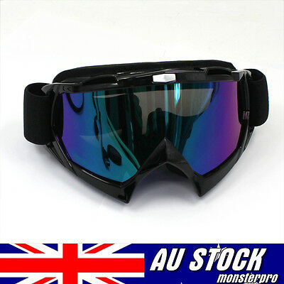 MOTORCROSS SNOW SKI GOGGLES OFF ROAD Safety Gear Anti-fog UV protection Tinted