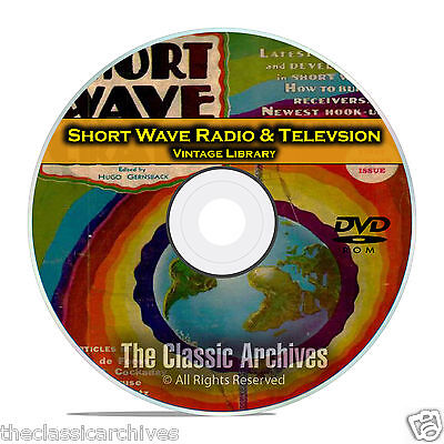 Short Wave Craft, Radio & Television, 125 Vintage Magazines Library CD DVD B65