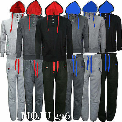 Mens Casual Pullover Fleece Sports Tracksuit Jogging Suit Bottom Hoodie Top