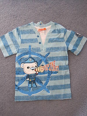 boys octonauts t shirt ,tee top captain barnacles many sizes NEW sizes 2  3  4