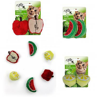 SALE All For Paws AFP Green Rush Juicy Fruit Cat Kitten Catnip Toy