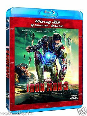 Iron Man 3  Blu-ray + Blu-ray 3D ACTIVE  VF Neuf