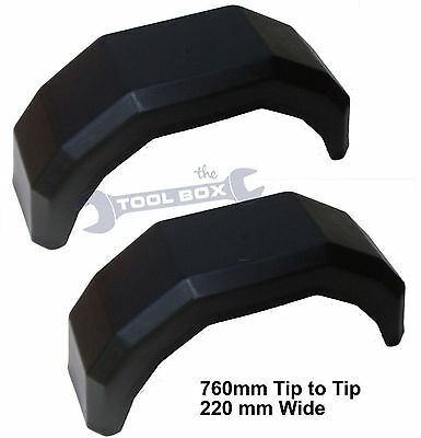 """Trailer Mudguards for 13"""" Wheels (One Pair) Brand New"""
