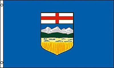 Large 3' x 5' High Quality 100% Polyester Alberta Flag -Free Shipping
