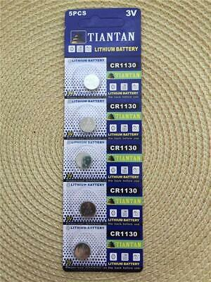 10 × CR1130 TIANTAN Lithium Primary Battery Brand New Factory Direct Card