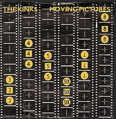 """THE KINKS """"MOVING PICTURES/IN A SPACE""""  45 W/PICTURE SLEEVE BRITISH PRESSING"""