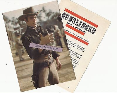 1961 TONY YOUNG TV GUIDE ARTICLE CLIPPINGS GUNSLINGER WITH A PROBLEM