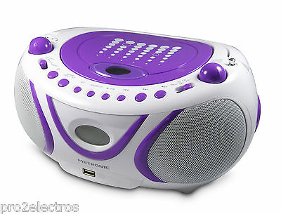 Radio CD - MP3 avec USB - Pop Purple - METRONIC - 477112