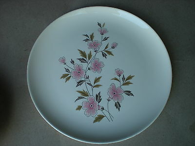 """Ever Yours Wild Quince 10.5"""" Dinner Plate Taylor Smith Taylor China Md in USA"""
