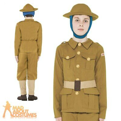 Horrible Histories WW1 Army Soldier Boys Costume Book Day Week Child Fancy Dress