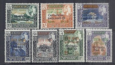 "Aden/S. Arabian Fed. SG# 77-83, MNH, (7) stp ""Football"" ovpt Set Issued in 1966/"