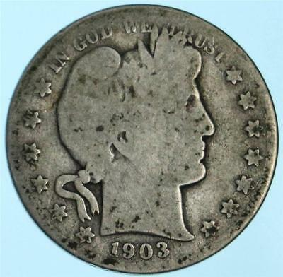 Better Date/Mint 1903-S Barber Half Dollar US 90% Silver Coin Lot E287