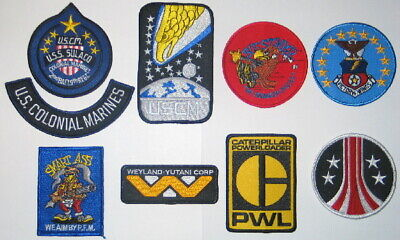 Aliens Movie Logos Embroidered Patch Set of 9, NEW UNUSED