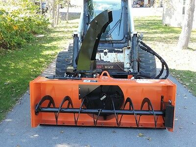 WoodMaxx SS-Blizzard Skid Steer Snow Blower 72""