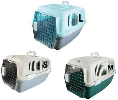 Pet Cat Kitten Dog Rabbit Carrier Kennel Foldable Travel Transport Cage Vet S/m/