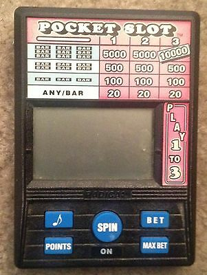 Radica Pocket Slot Electronic Handheld Casino Game model 1370
