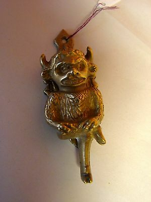 Vintage Brass Door Knocker:  the Lincoln Imp