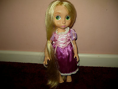 "Disney Store 2nd Edition  Tangled Rapunzel Doll  Animators 15""Rare"