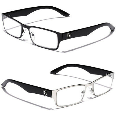 Khan Rectangle Men Clear Lens Reading Glasses Fashion Readers 1.5 1.75 2.0 2.5