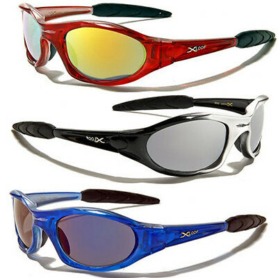 Color Mirror Wrap Around Men Water Sport Cycling Ski Running Baseball Sunglasses