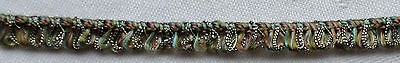Vintage French Trim Multi-Color Silk Like Threads Silver Metallic Accent French
