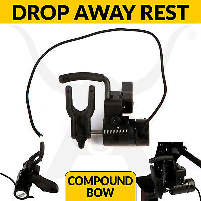 Advanced Drop Away Arrow Rest Black With Full Containment Bar Hunting Archery