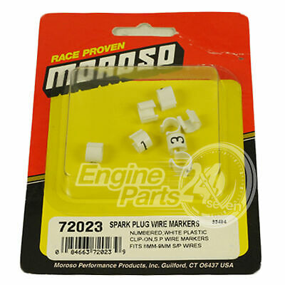 Spark Plug Lead Numbered Markers Clip On Style Chev Ford Holden Moroso 72023