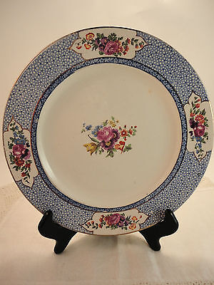 Booths England # A1117 Blue Floral Silicon China - Salad Plate (#4)