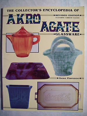 ANTIQUE AKRO AGATE GLASS $$$ id PRICE VALUE GUIDE COLLECTORS BOOK