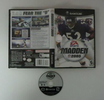 Madden NFL 2005 Used With Case  (Nintendo GameCube, 2004)