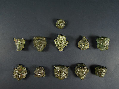 Roman Bronze Studs and Mounts (Lot of 11)