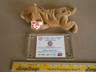 """Cubbie"" Chicago Cubs Opening Day 4th tush & 4th hang 5/18/97 Promo Beanie Baby"