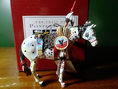 Painted Ponies RETIRED 2003  War Pony Christmas  Ornament WESTLAND Vintage MINT