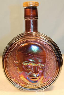 VTG WHEATON CARNIVAL GLASS DECANTER BOTTLE DWIGHT D. EISENHOWER FIRST EDITION