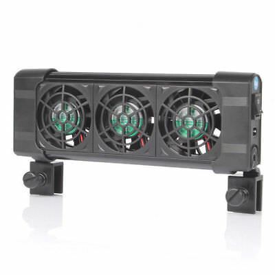 Cooling Fan Ventilateur 3 fans Aquarium Chillers 120L Fish Tank + Adaptateur 12V