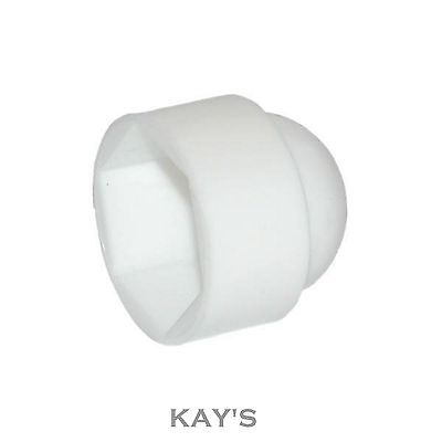 Protective Cover Caps For Hexagon Nuts,Bolts,Screws. White Plastic, Free P&P