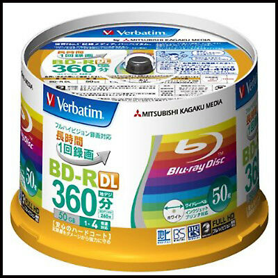 50 Verbatim Blu ray BD-R DL 50GB Bluray ORIGINAL PACK Verbatim Blu ray 50gb