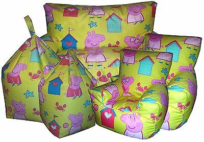 Peppa Pig Beanbags, Childrens Character Bean Chair, Kids Beanbag Sofa's