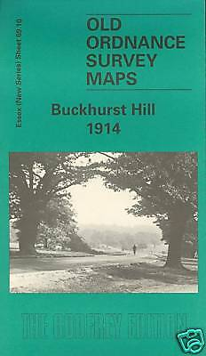Old Ordnance Survey Map Buckhurst Hill 1914